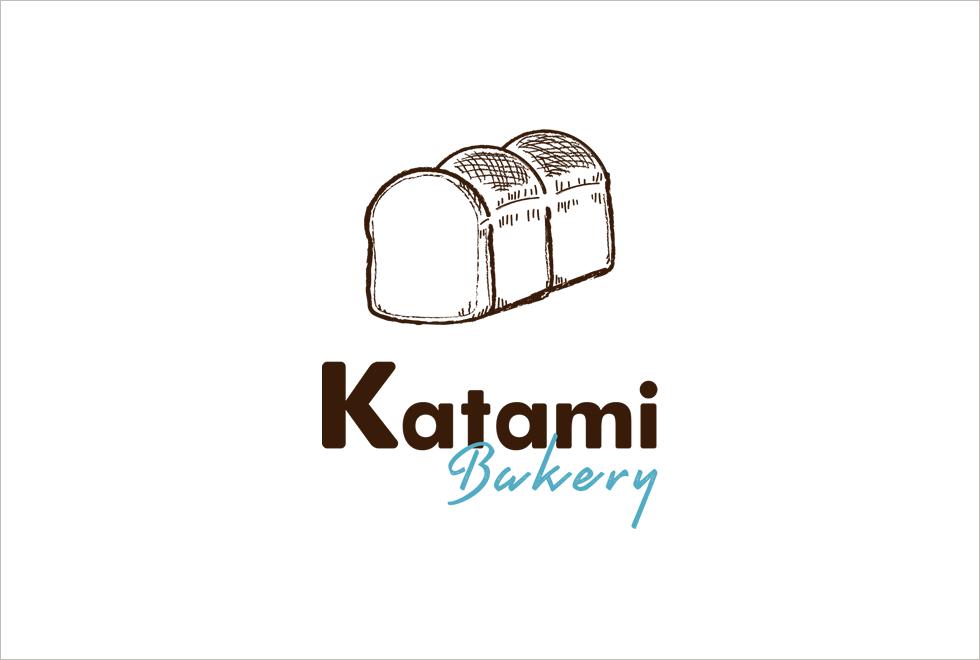 カタミベーカリーロゴデザイン